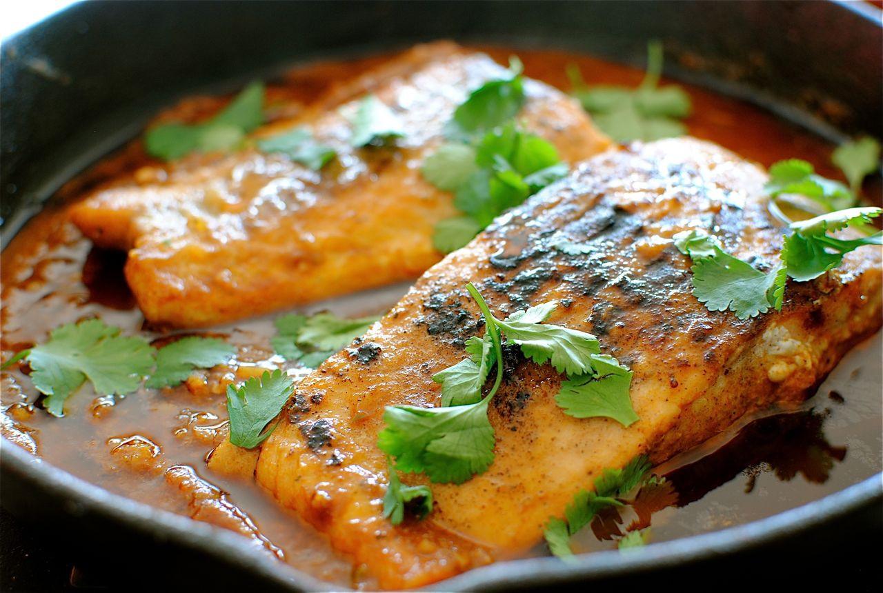 Spicy Tomato Sauce  Salmon in a Spicy Garlic Tomato Sauce