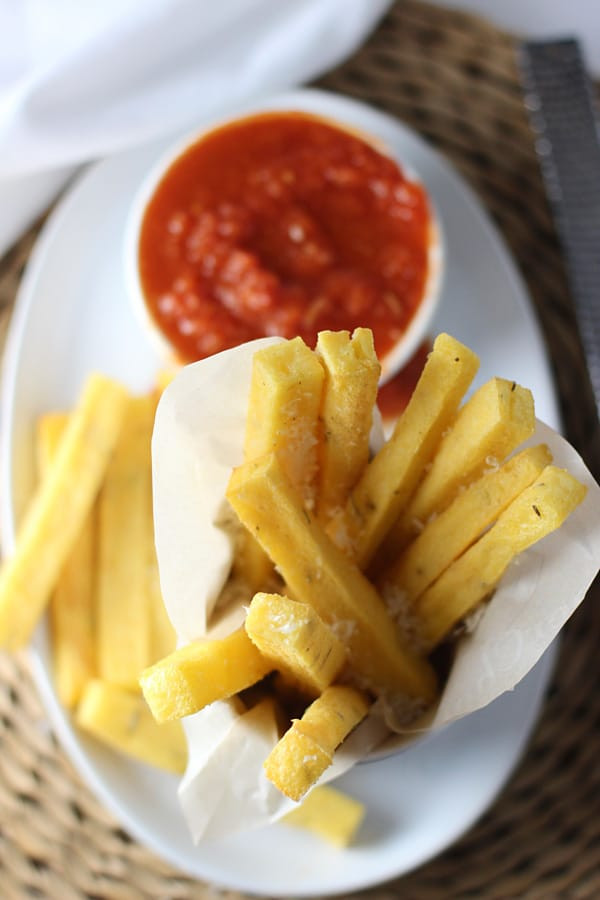 Spicy Tomato Sauce  Crispy Baked Polenta Fries with Spicy Tomato Dipping Sauce