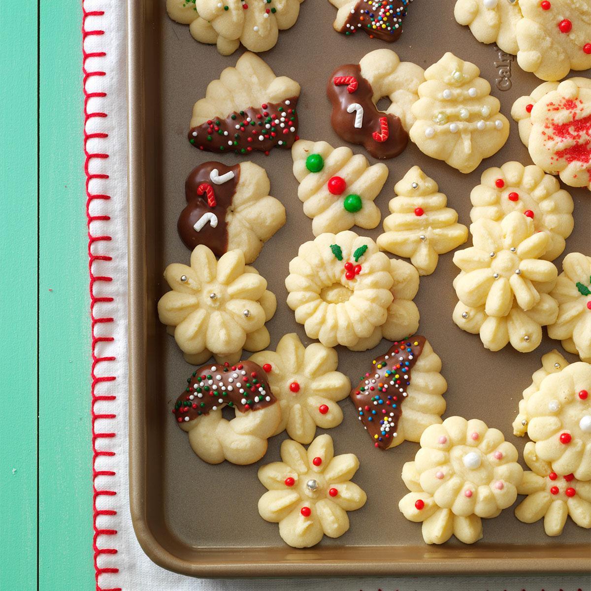 Spritz Cookies Recipe  Buttery Spritz Cookies Recipe