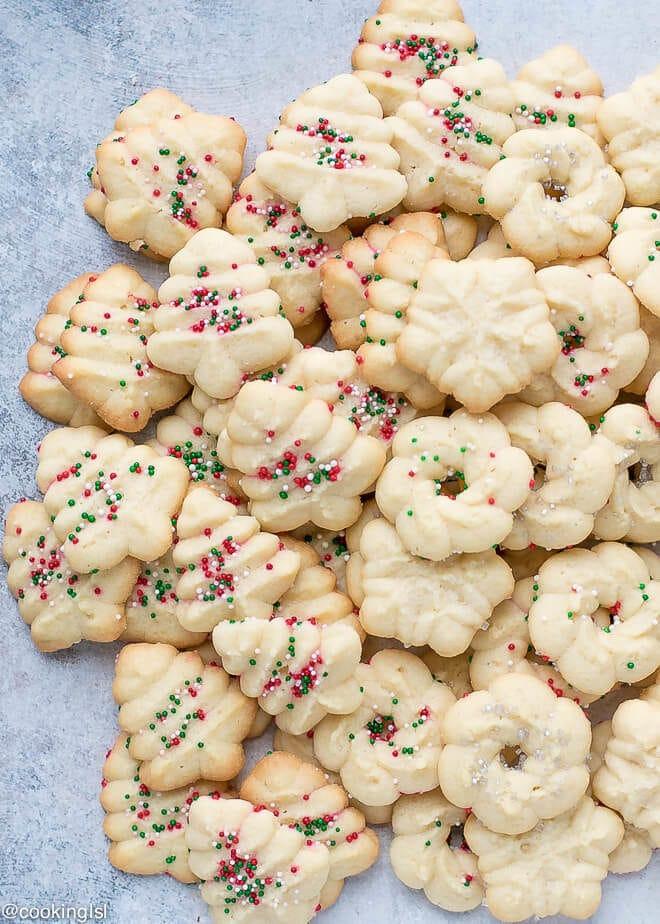 Spritz Cookies Recipe  Easy Cream Cheese Spritz Cookies Recipe Cooking LSL