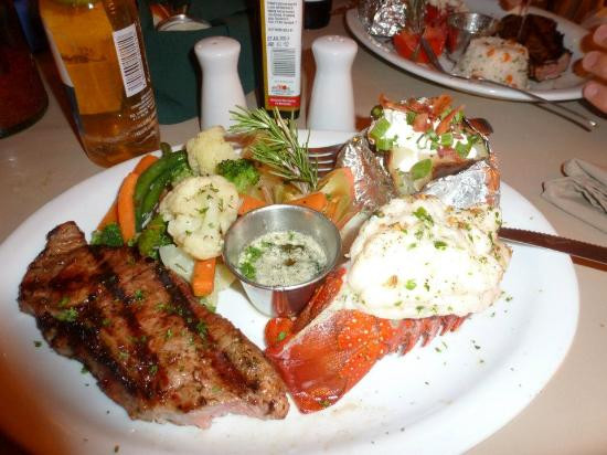 Steak And Lobster Dinner  Steak and lobster dinner Picture of Sardina Cantina San