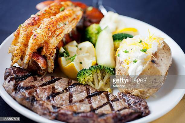 Steak And Lobster Dinner  Surf And Turf Stock s and