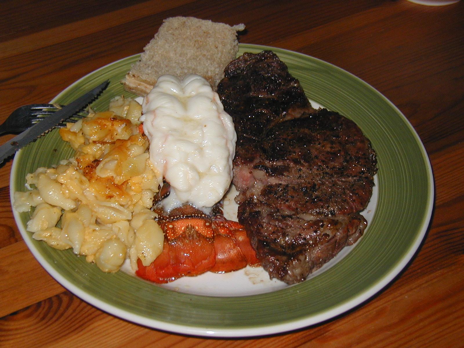 Steak And Lobster Dinner  A Gypsy Heart and Farmer Feet Port Aransas January 2011