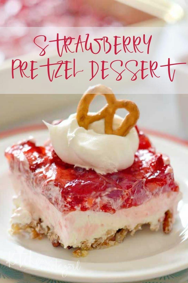 Strawberry Cream Cheese Desserts  Strawberry Pretzel Dessert