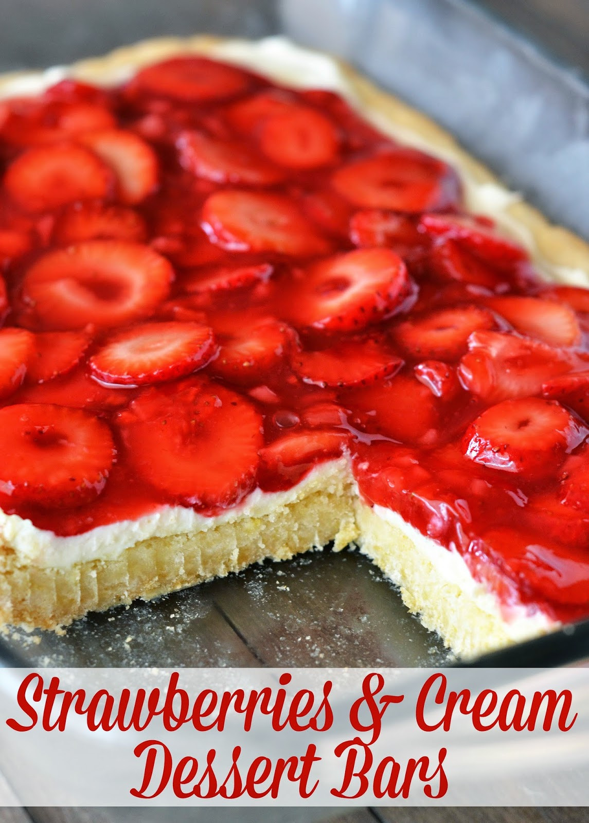 Strawberry Cream Cheese Desserts  The Country Cook Strawberries & Cream Dessert Bars