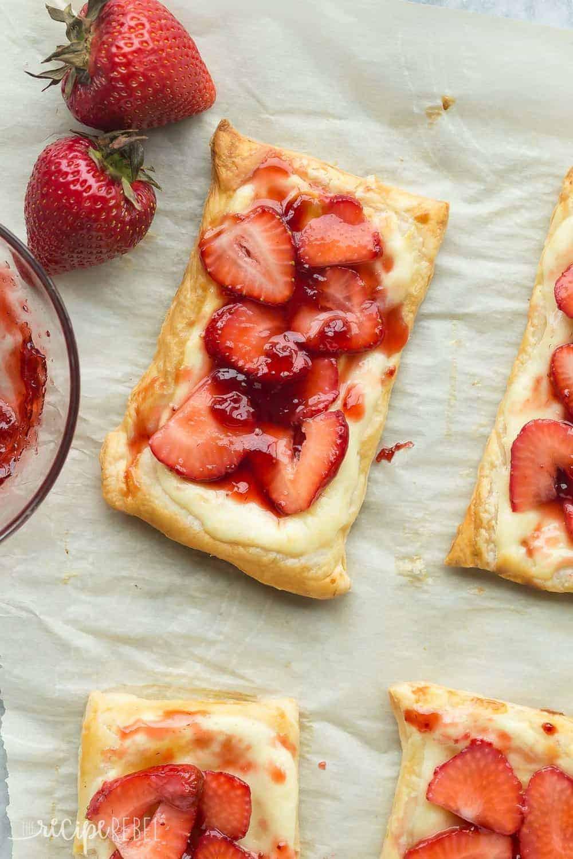 Strawberry Cream Cheese Desserts  Strawberry Cream Cheese Danishes