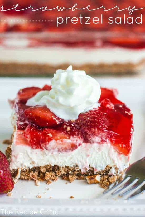 Strawberry Cream Cheese Pretzel Dessert  Strawberry Pretzel Salad