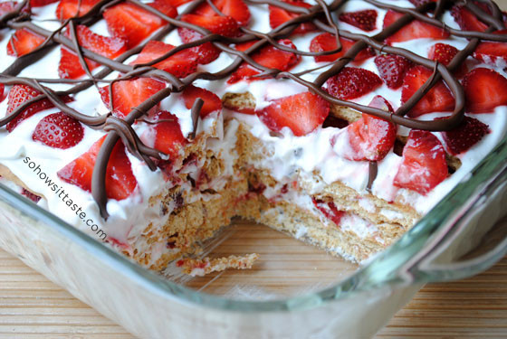 Strawberry Graham Cracker Dessert  No Bake Strawberry Icebox Cake