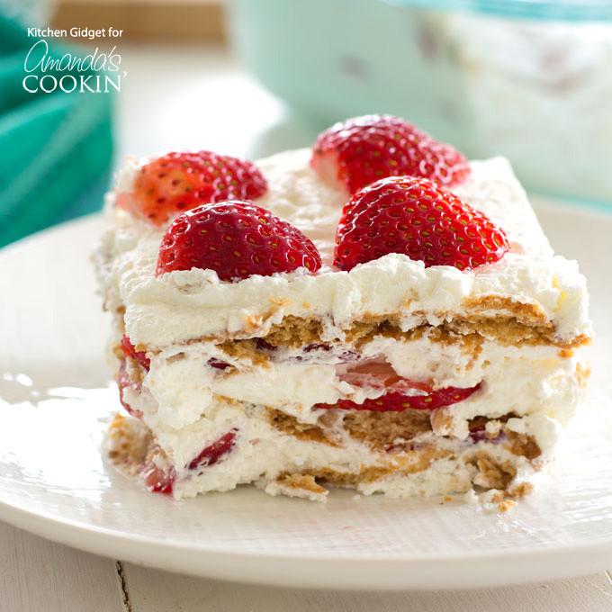Strawberry Graham Cracker Dessert  Strawberry Icebox Cake