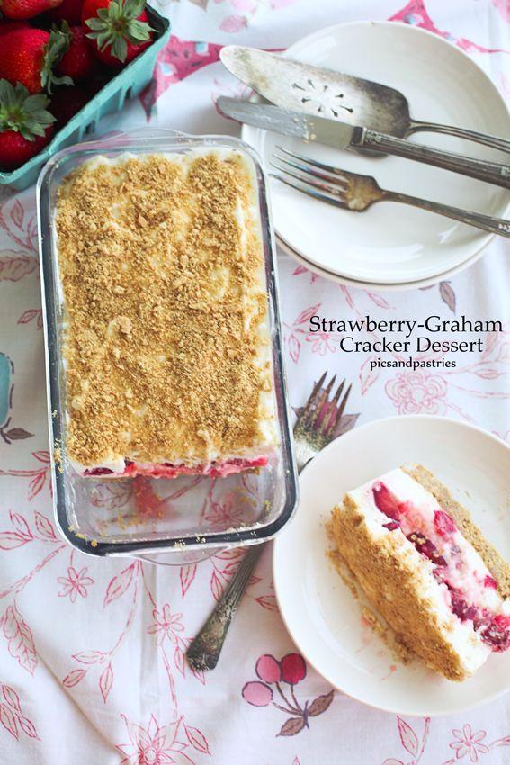 Strawberry Graham Cracker Dessert  Strawberry Graham Cracker Dessert Recipe