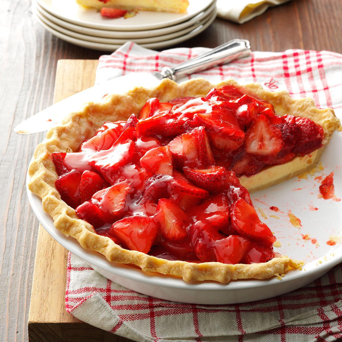 Strawberry Pie Recipes  Strawberry Cream Cheese Pie Recipe