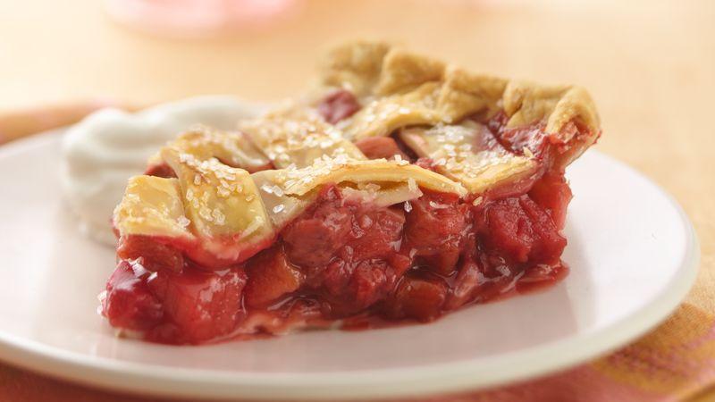Strawberry Rhubarb Pie Recipes  Lattice Top Strawberry Rhubarb Pie Recipe Pillsbury