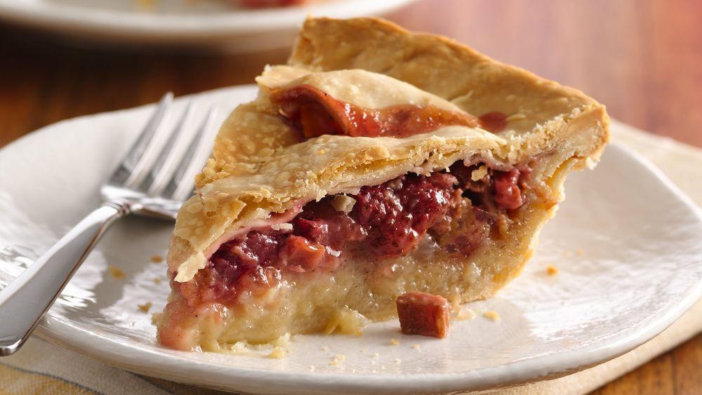 Strawberry Rhubarb Pie Recipes  Strawberry Rhubarb Pie recipe from Pillsbury