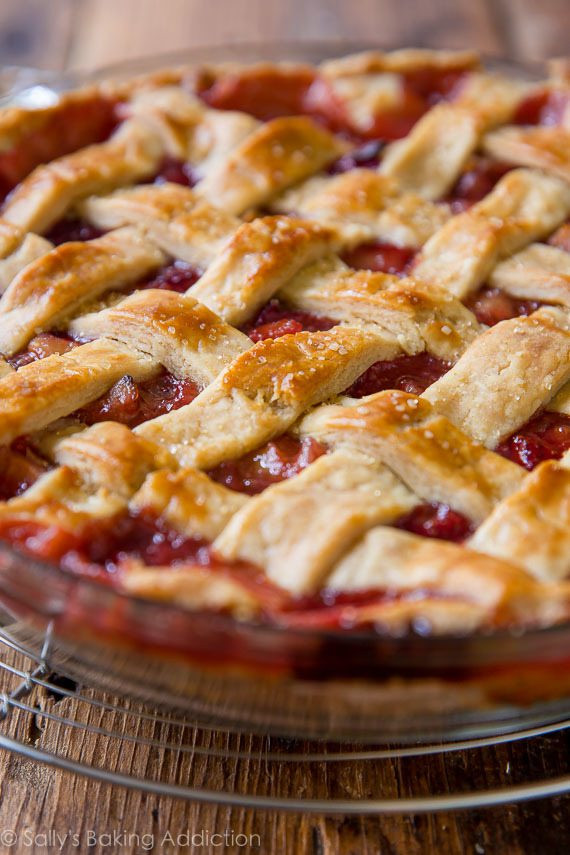 Strawberry Rhubarb Pie Recipes  Strawberry Rhubarb Pie Sallys Baking Addiction