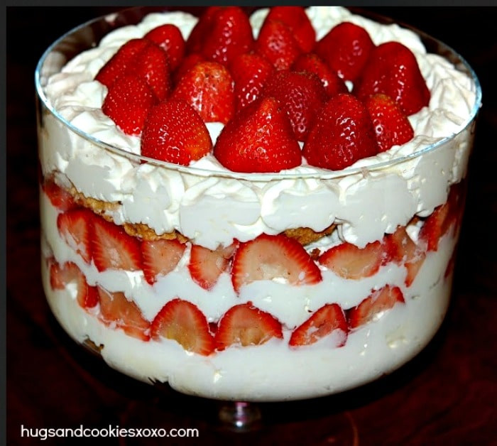 Strawberry Shortcake Trifle  Strawberry Shortcake Trifle Hugs and Cookies XOXO