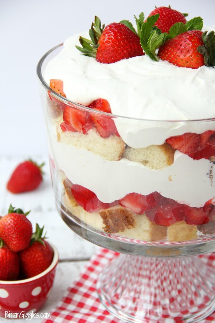 Strawberry Shortcake Trifle  Strawberry Shortcake Trifle Bitz & Giggles