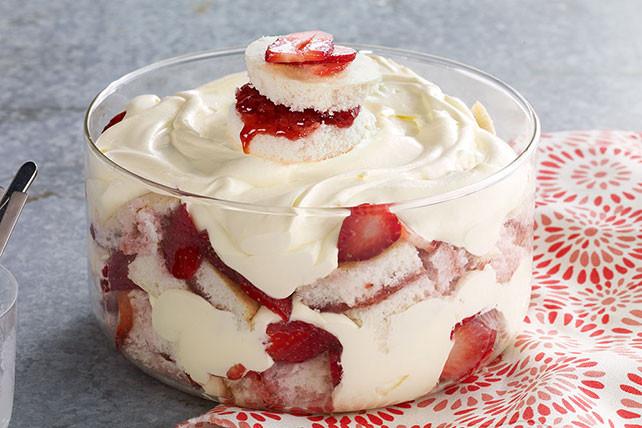 Strawberry Shortcake Trifle  Strawberry Shortcake Trifle Kraft Recipes