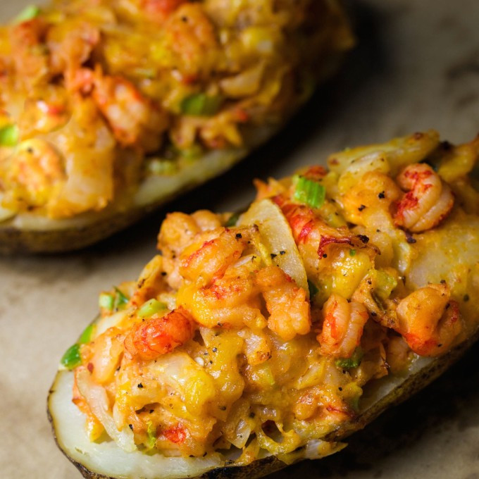 Stuffed Baked Potato  Crawfish Baked Potato is a twice baked taste explosion