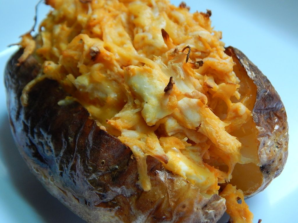 Stuffed Baked Potato  Buffalo chicken stuffed baked potato Drizzle Me Skinny