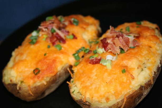 Stuffed Baked Potato  Stuffed Baked Potatoes Recipe Food