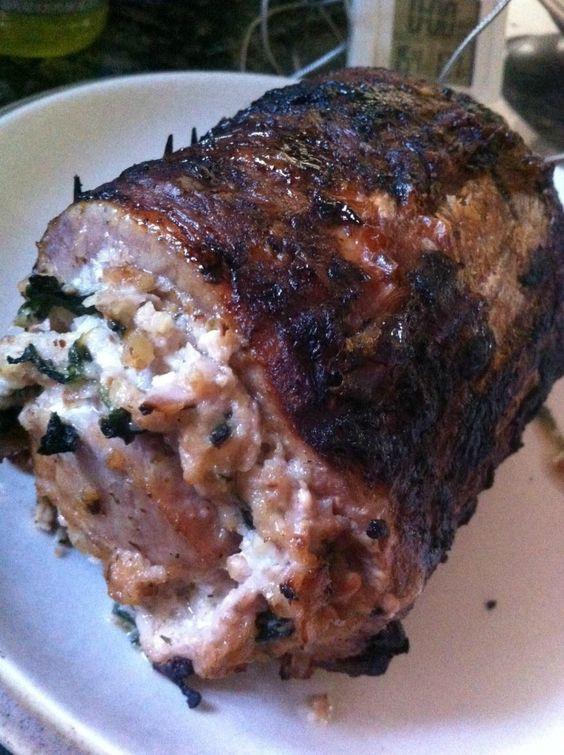 Stuffed Pork Loin Recipe  spinach and feta stuffed pork tenderloin recipe
