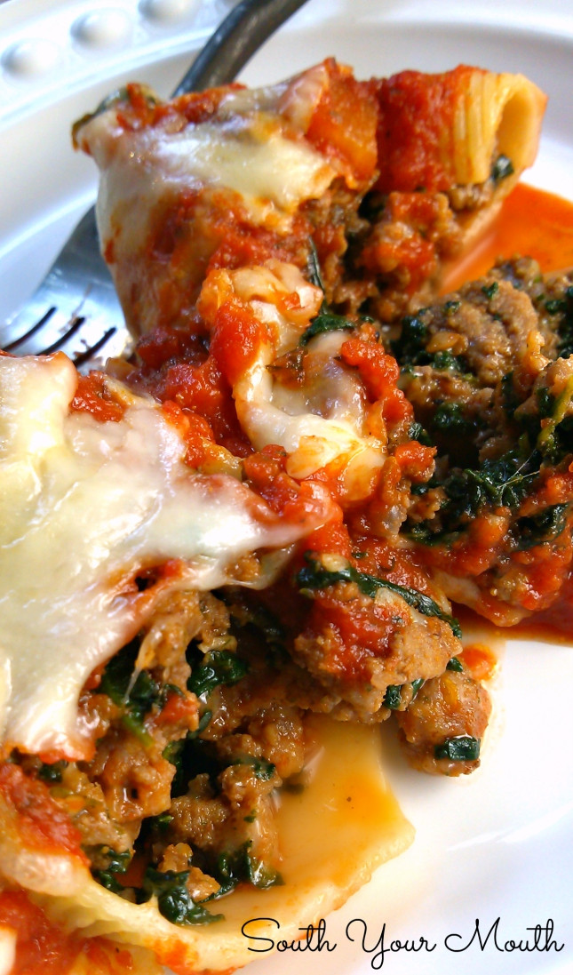 Stuffed Shells With Ground Beef  South Your Mouth Classic Stuffed Shells