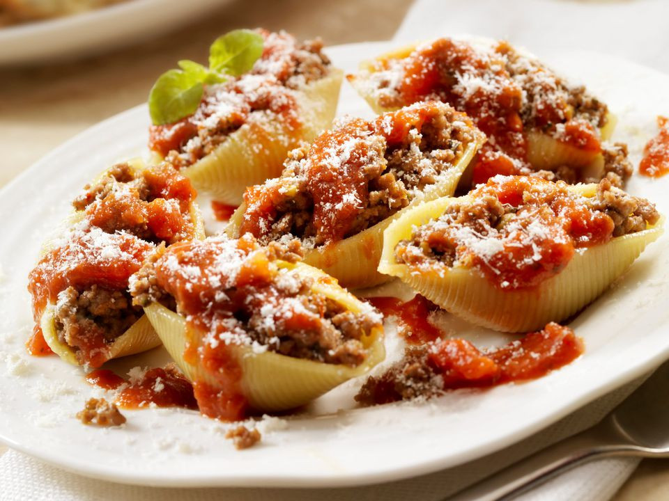 Stuffed Shells With Ground Beef  Slow Cooker Stuffed Shells Recipe With Ground Beef Recipe