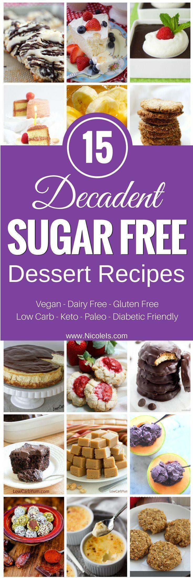 Sugar Free Dessert Recipes For Diabetics  Best 25 Sugar free diabetic recipes ideas on Pinterest