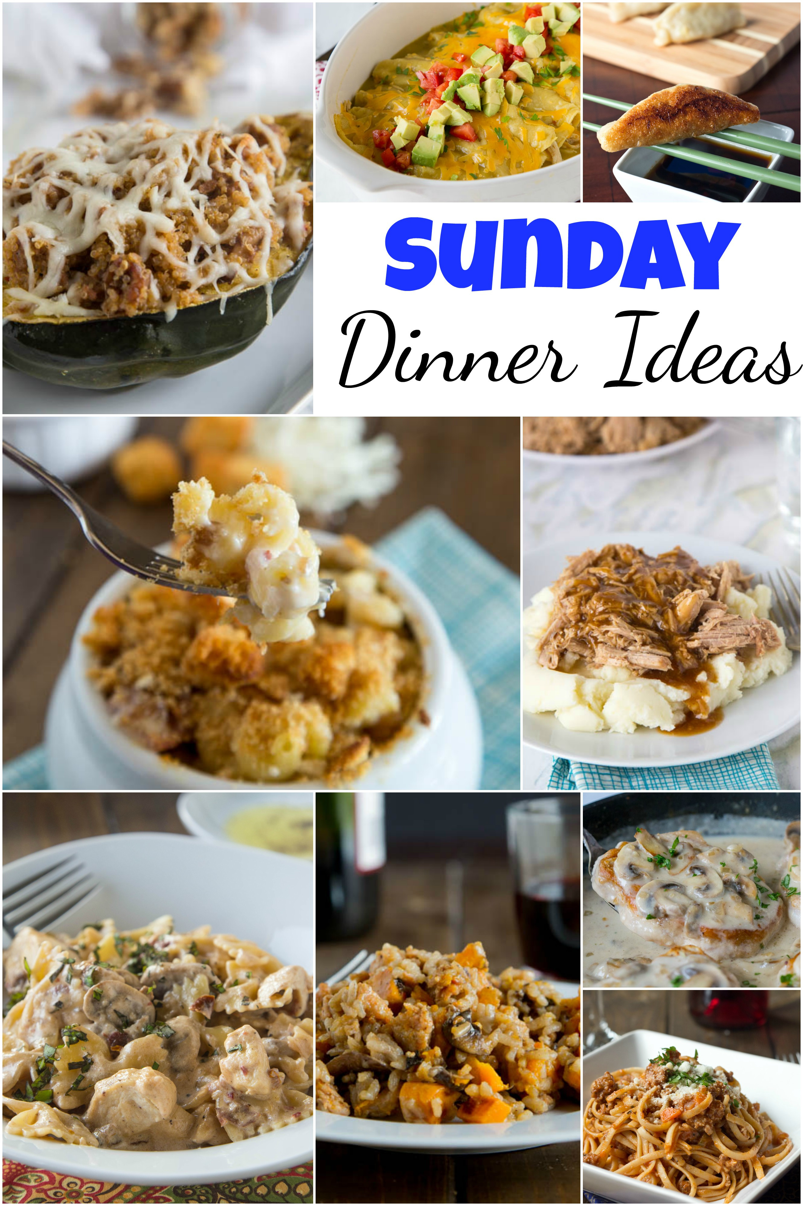 Sunday Dinner Ideas  Sunday Dinner Ideas Dinners Dishes and Desserts