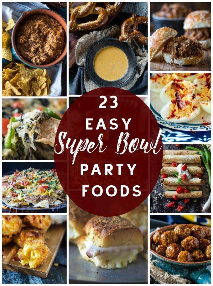 Super Bowl Dinner Ideas  23 Super Bowl Party Food Recipe Ideas Go Go Go Gourmet