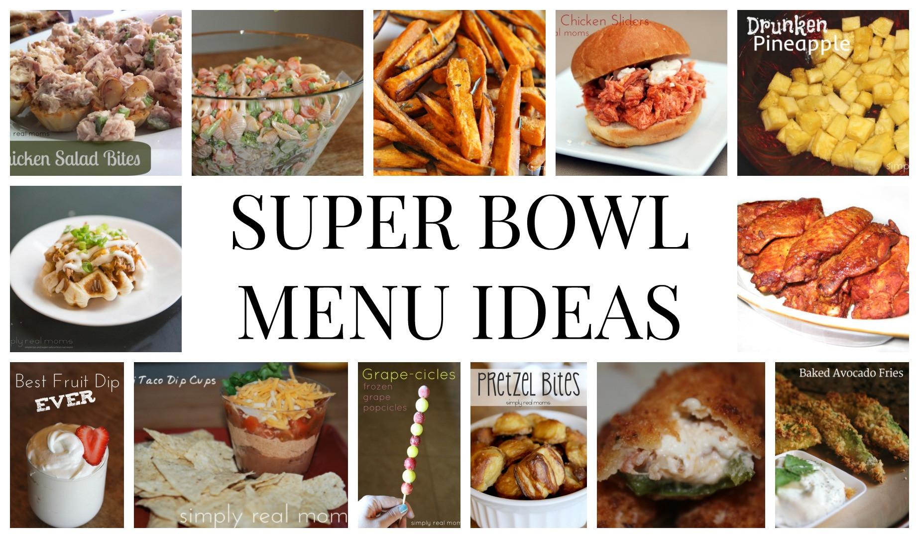 Super Bowl Dinner Ideas  latest super bowl sunday menu ideas with menu ideas