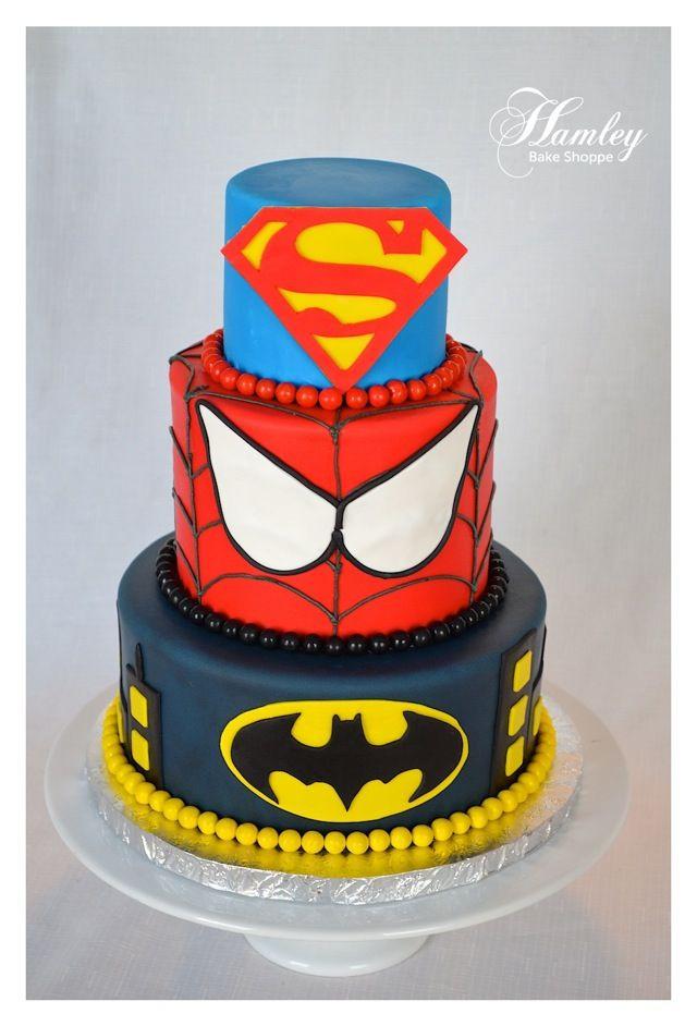 Superhero Birthday Cake  822 best images about Superhero Birthday Party Ideas on