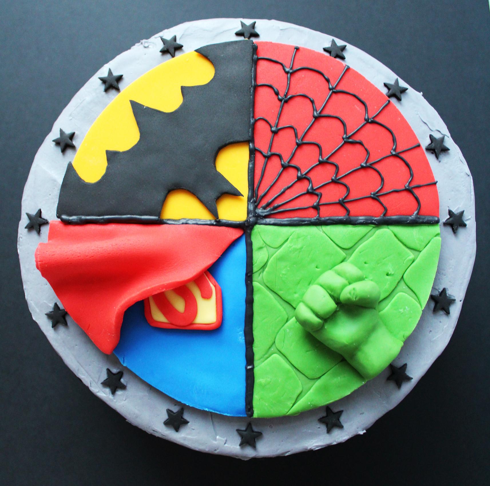Superhero Birthday Cake  Superhero Cake Ever So Sweet Blog