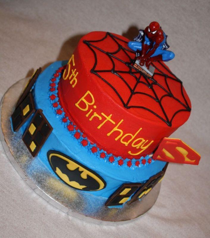 Superhero Birthday Cake  Super Hero Super Hero Cakes