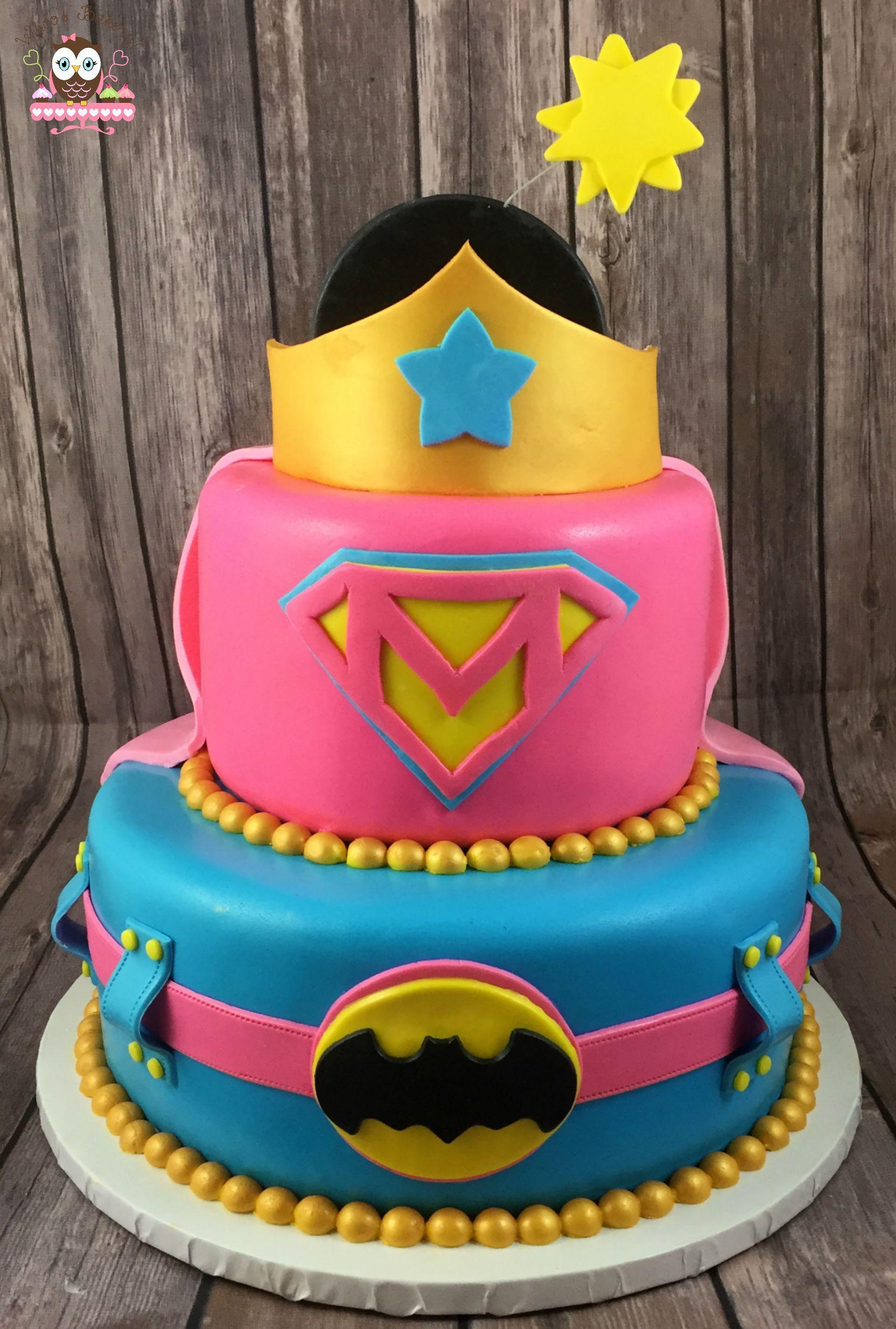 Superhero Birthday Cake  Superhero cake Girl Superhero Cake Pink superhero