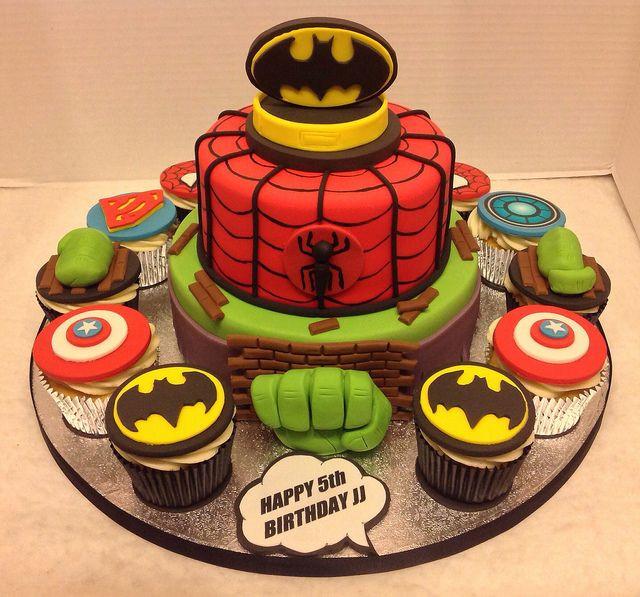 Superhero Birthday Cake  1000 images about Superhero cupcakes on Pinterest