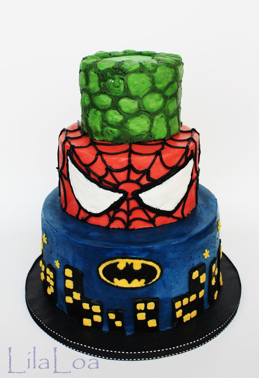 Superhero Birthday Cake  Super Hero Cake