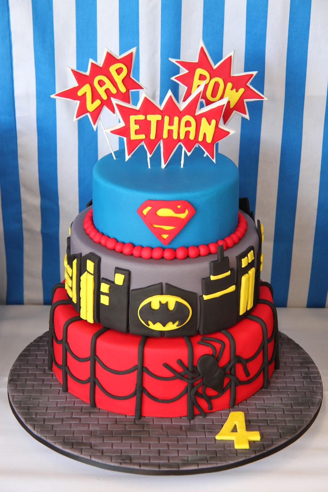 Superhero Birthday Cake  Leonie s Cakes and Parties SUPERHERO PARTY