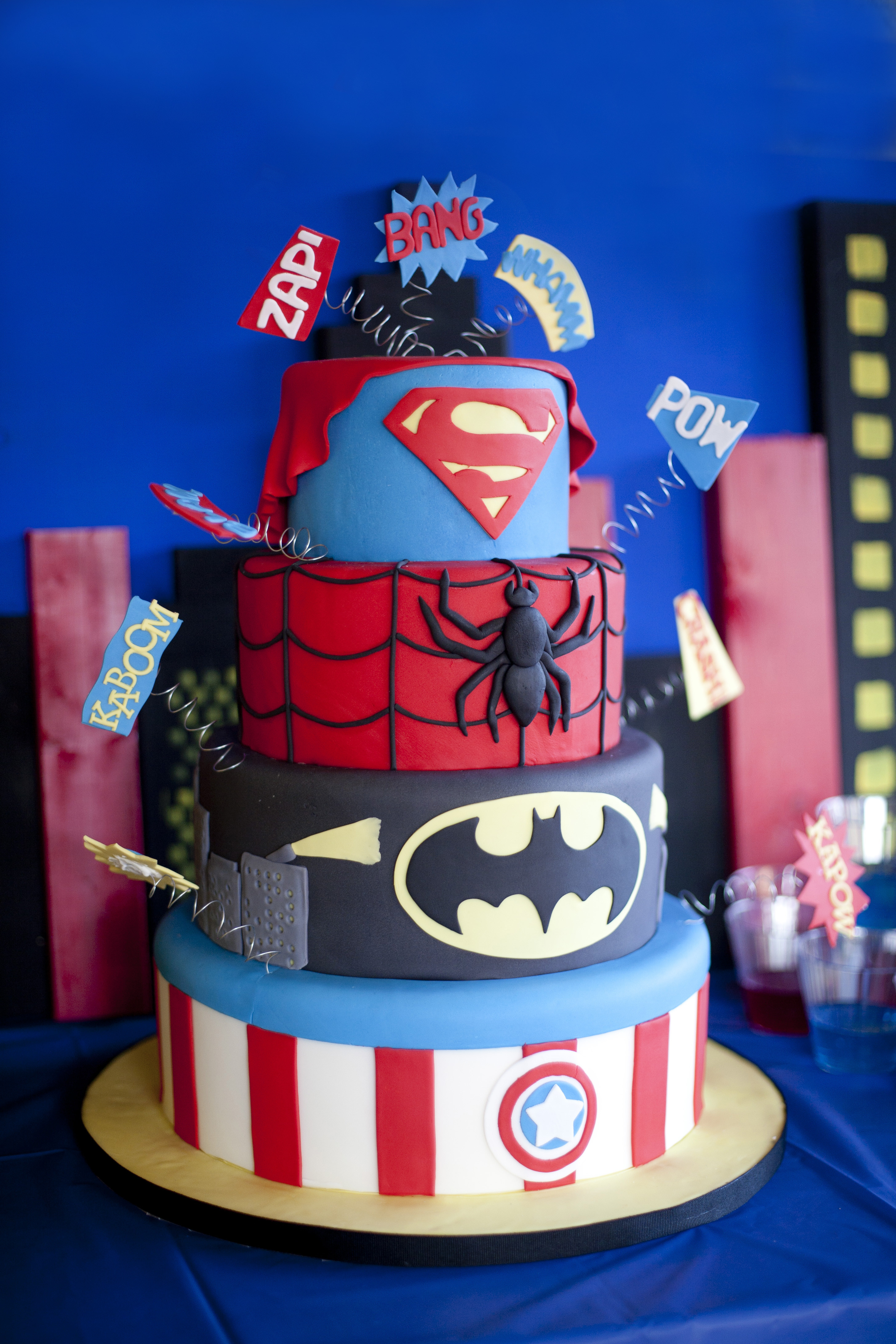 Superhero Birthday Cake  Super Hero Birthday Party