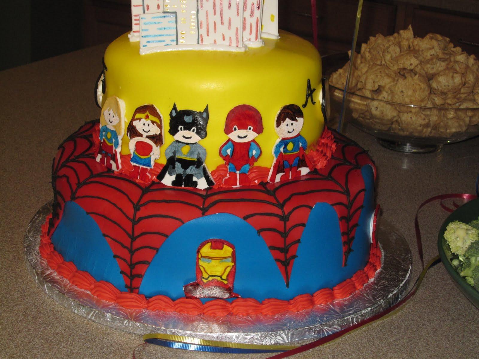 Superhero Birthday Cake  Super Hero Super Hero Cake