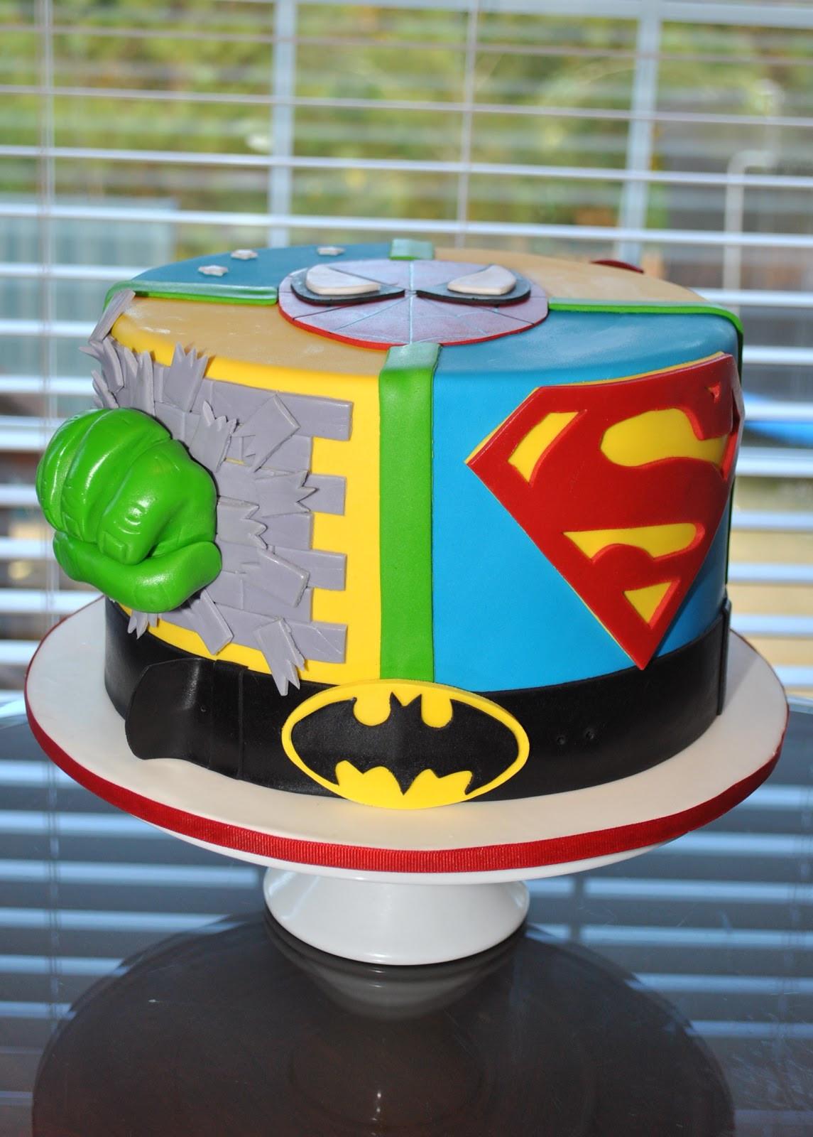 Superhero Birthday Cake  Hope s Sweet Cakes Super Hero and Soccer Cakes
