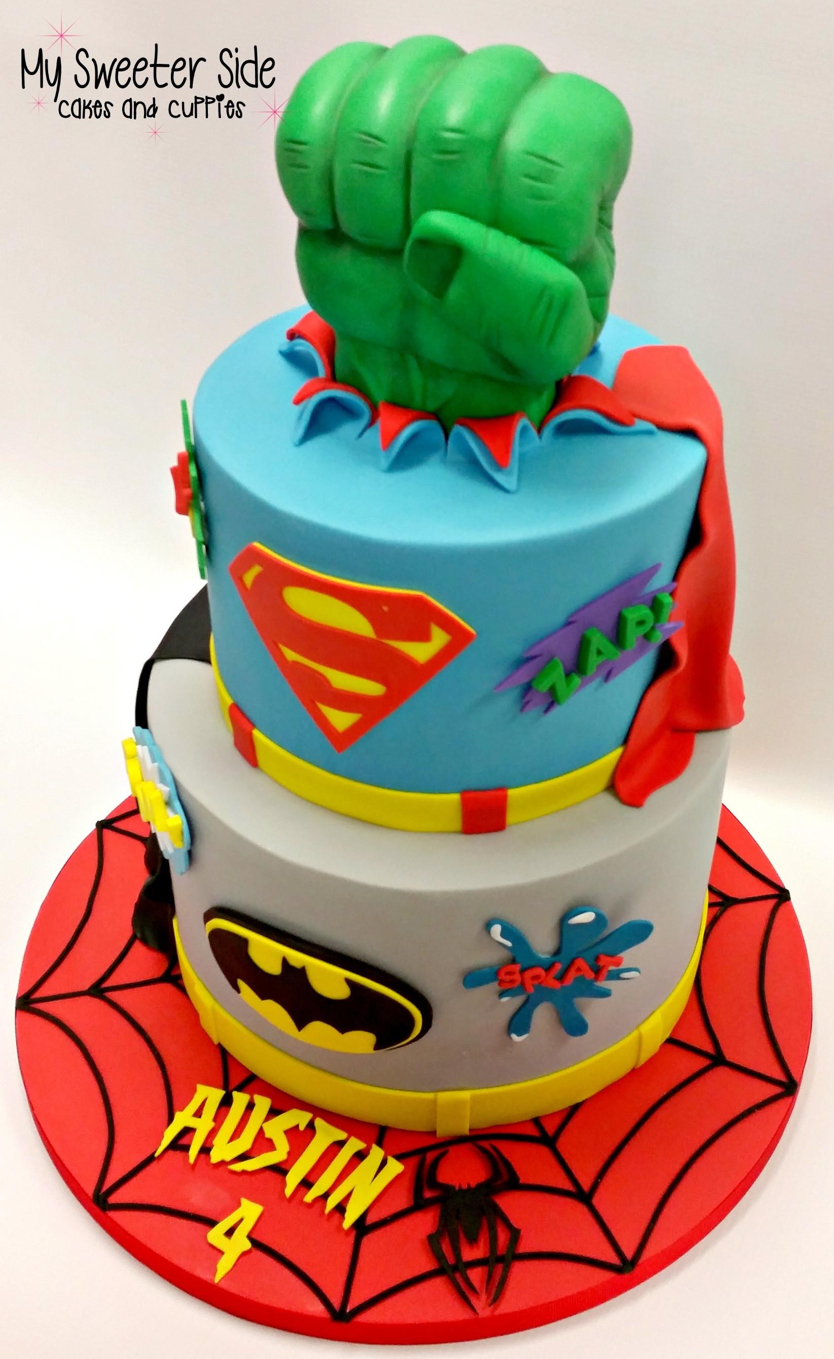 Superhero Birthday Cake  Superhero Cake CakeCentral