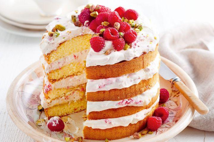 Sweet Honey Dessert  Raspberry honey dessert cake