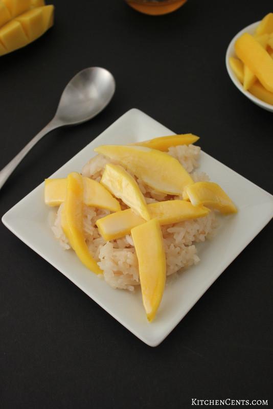 Sweet Honey Dessert  Easy Sweet Honey Coconut Rice and Fresh Mango