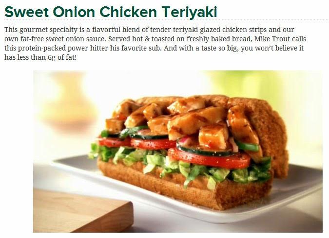 Sweet Onion Chicken Teriyaki  Post your favorite type of Sub sandwich at Subway thread