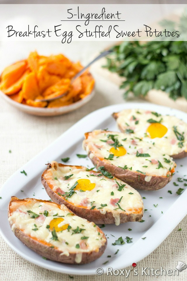 Sweet Potato Breakfast Recipes  Breakfast Egg Stuffed Sweet Potatoes