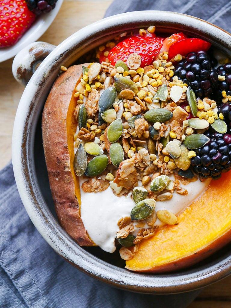 Sweet Potato Breakfast Recipes  Sweet Potato Breakfast Bowl with Berries