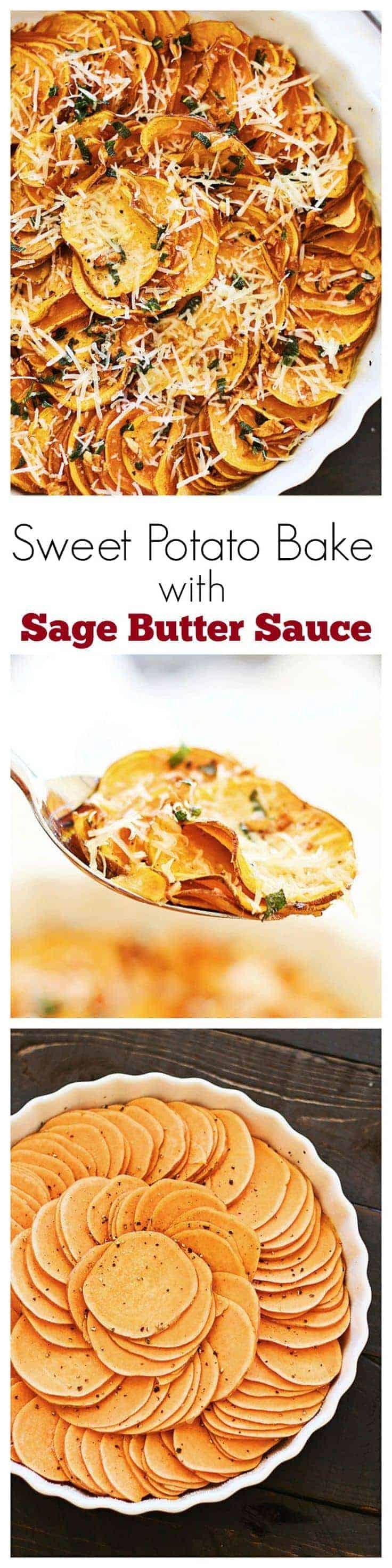 Sweet Potato Butter  Sweet Potato Bake with Sage Butter Sauce