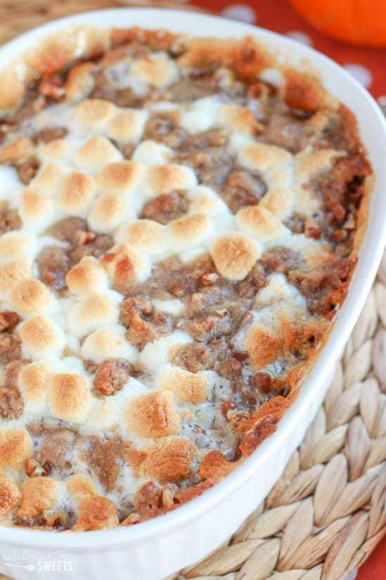 Sweet Potato Casserole With Pecans And Marshmallows  Sweet Potatoes with Marshmallow Streusel