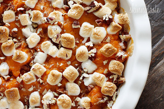 Sweet Potato Casserole With Pecans And Marshmallows  Thanksgiving Side Dishes for Weight Watchers – Recipe Diaries